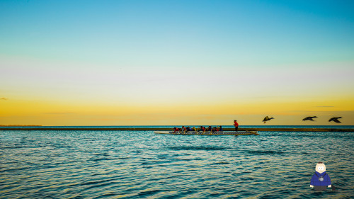 23. Sunset with Rowers